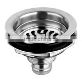 2015 Made in China Chaozhou bathroom accessories Stainless Steel basin drainer sink strainer sanitary ware ,110G
