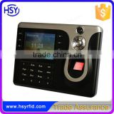HSY-307 125khz RFID card fingerprint LED screen 200Mhz USB memory disk TCP/IP password time attendance management system