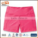 2016 wicking dry rapidly supplex fabric made ladies running yoga shorts