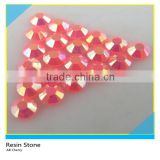Wholesale AB Cherry Color Epoxy Rhinestone Stone 2mm/3mm Hotfix Round Resin Flatback Stone