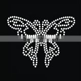 2016 crystal custom hotfix butterfly pattern rhinestones transfer for black shirt