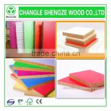 with different thickness 1220*2440 melamine laminated mdf high quality colorful melamine faced MDF board