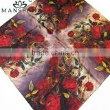 wholesale digital print square silk scarf