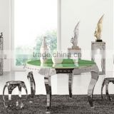 Green circle marble table top dining table Y-1213A                                                                         Quality Choice