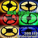 Super bright 5050 smd rgb led strip 300LEDs with 24keys/44 keys IR remote controller high intensity and reliability