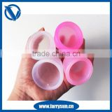 2015 Wholesale price silicon menstrual cup with long stem and instructions, menstrual cup virgin