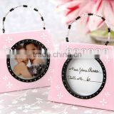 2013 creative design pink memory pink purse shaped photo frame table place card hold for wedding party usage