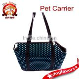 Blue Cute Polka Dots Dog Carrier Dog Tote Pet Canvas Hand Carrier for Baby Pet