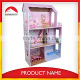 The popular baby wooden doll house for pretend play and DIY