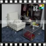 Modern Office Transparent clear Acrylic desks or coffee table with sofa chair