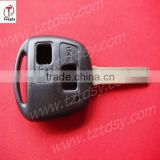 TD car keys ,high quality and competitive for lexus 2 button remote key shell with short blade