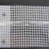 white color clear pe tarpaulin with mesh woven wire tarp for construction scaffolding sheet cover