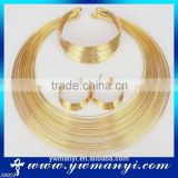Wholesale african fashion indian gold plated costume jewelry set                                                                         Quality Choice