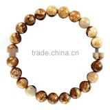 Fashion Charm Bangle Latest Design Daily Wear Bangle 8 mm 7.5 Inch Picture Jasper Gemstone Bracelet