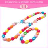 Beautiful china small beads necklace fancy bracelet for girls nigerian beads jewelry set
