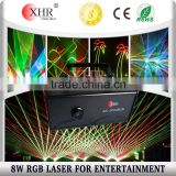 8w Full Color 8000mw RGB Night Club Dancing Laser Lighting Outdoor Logo Projector