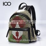 Guangzhou backpack manufacturers china with rivet