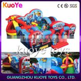 rescue squad obstacle inflatable playground ,inflatable trampoline amusement park for children, helicopter castle jump new toys