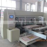 Packaging machinery for corrugated carton box, full automatic high speed flexo ink printer slotter die cutter machine