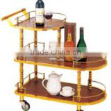 sweet heart -star Superior hotel wine beer luxury service stainless steel trolley cart airport three layers trolley