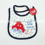 Manufacture polyester material silicone baby bibs cute design custom printed baby bibs