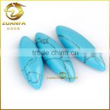 Factory prices Blue polish cabochon marquise turquoise loose bulk turquoise stone