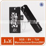 luxury black water proof hangtag for clothing with closure                                                                         Quality Choice