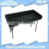 4FT Black Plastic Fill N Chill Ice Cooler Table