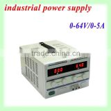 0-64V 0-5A Low ripple and noise continuously adjustable linear DC voltage regulator power supply with high stability