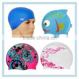 Hot Sale high quality eco friendly promotional cheap Novelty Printing Adult Silicone Swimming Caps