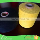 Solid color 50% cotton 50% viscose wool roving yarn