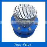 Cast Ductile iron foot valve with strainer