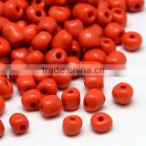 12/0 Red Glass Seed Beads, Tiny Beads, 1.5~2.0mm in diameter, about 30000pcs/pound(SEED-A017-12-45)