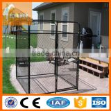 Large dog run chain link animal cage / soft portable garden dog fence panel