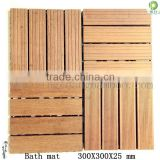 Bamboo wooden anti slip barthroom laminated floor mat