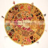 Big Indian Decorative floor cushions Indian Throw cushion covers Round Pillow covers Indian Round Yoga Seating cushions