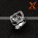In Stock Custom Men Silver Masonic Finger Rings Stainless Steel Signet Rings Best Friends Forever Rings