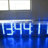 8inch big yellow high brightness aluminium frame wall mounted led double sided wall clocks