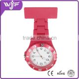 Round face rubber fob nurse watch with multiple colors , Red nurse watch , Plastic nurse watch