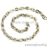 silver tone mens strong 316l stainless steel bicycle chain