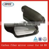 car door side rearview mirror cover FOR Audi A4 B9 2012 carbon replacement