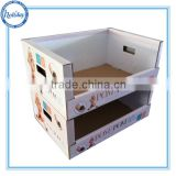 attractive promotion cardboard display pallet PDQ box,baby products display