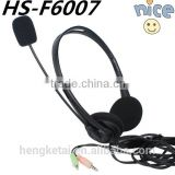The 3.5mm wired USB Connectors headsets China earphone with microphone durable computer Games headphone