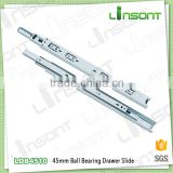 High quality 45mm full extension ball bearing telescopic channel furniture accessories drawer slide