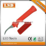 LS-56 electrician knife with fixed hook blade and protective cap cable tool knives for stripping cables