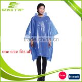 One Size Fits Most Clear Transparent Disposable Plastic Raincoat