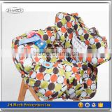 Washable 100% polyester baby high chair cover with mobile phone pocket