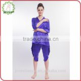 100% silk high quality blue pictures of sexy silk nightwear