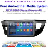 10.2 inch Android 4.4.4 Stereo for Corolla 2014 GPS 1024*600 1.6G CPU Radio headunit free map GPS navi browser navi