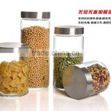hot sales glass storage jars with glass lid and sealed ring